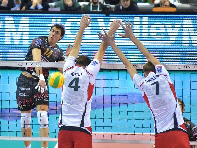 Волейболисты «Белогорья» проиграли «Перудже» вматче группового этапа Лиги чемпионов