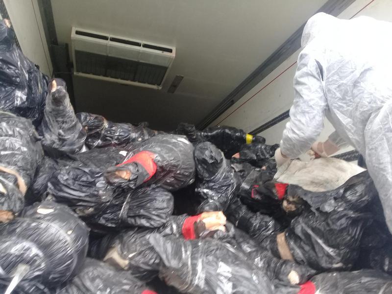 Работники ФСБ задержали 22 тонны мяса под Белгородом